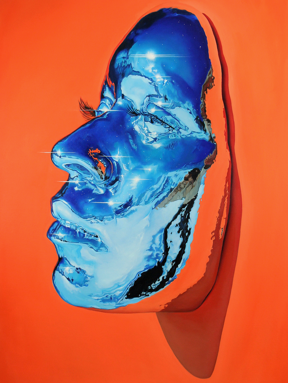 Paintings of Chrome Masks by Kip Omolade #artpeople